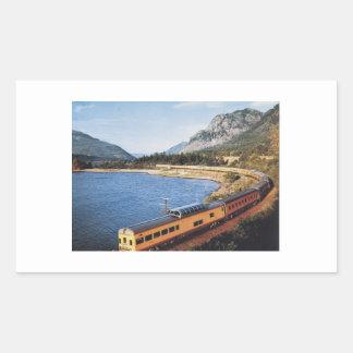 Portland Streamliner, Columbia River Gorge Vintage Rectangular Sticker