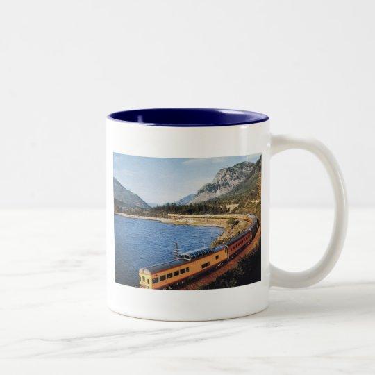 Portland Streamliner, Columbia River Gorge Vintage Two-Tone Coffee Mug