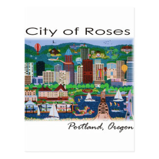 Portland~ The City of Roses Postcard