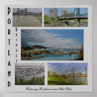 Portland tiende un puente sobre el poster