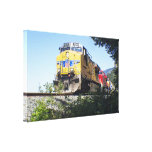 Portland Train Gallery Wrapped Canvas Print