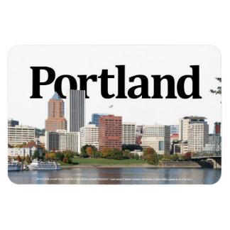 Portland u horizonte con Portland en el cielo Imán De Vinilo