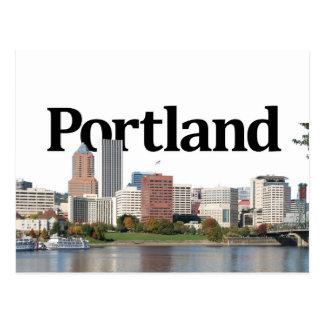 Portland U horizonte con Portland en el cielo Tarjetas Postales