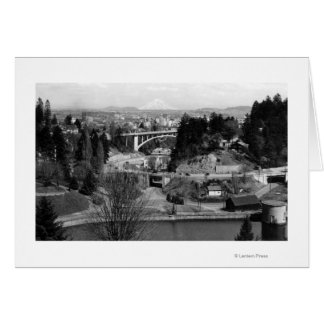 Portland, U opinión de la ciudad del parque de la  Tarjeta De Felicitación