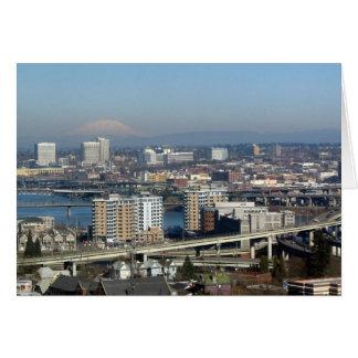 Portland vio de la tranvía aérea tarjeta de felicitación