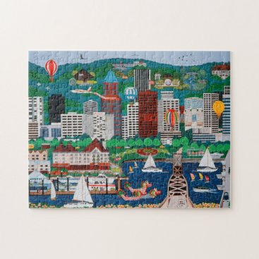 Beach Themed Portland Waterfront Puzzle