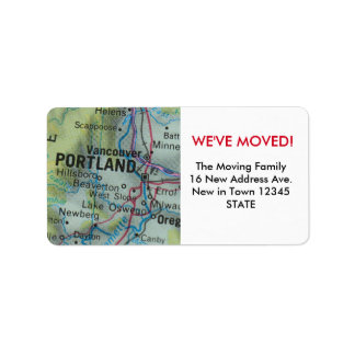 Portland We've Moved label