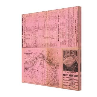 Portland y ferrocarril y conexiones de Ogdensburg Lona Estirada Galerias
