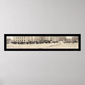 Portland YO foto 1920 del cuerpo de bomberos Póster