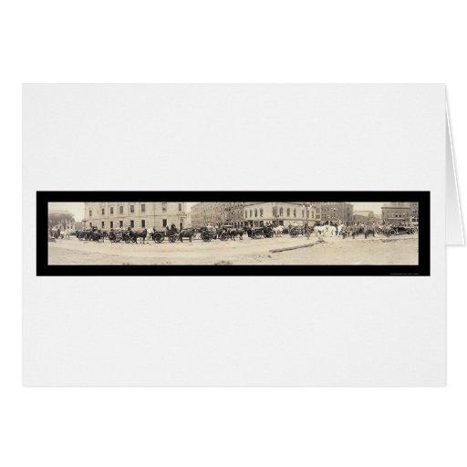 Portland YO foto 1920 del cuerpo de bomberos Felicitaciones