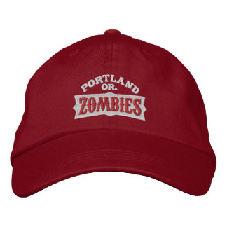 Portland Zombies Red Cap Embroidered Hat