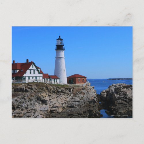 Portlandhead Lighthouse MainePostcard zazzle_postcard