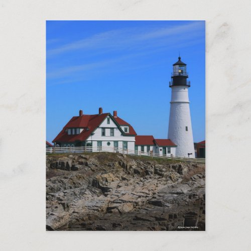 Portlandhead Lighthouse-Vertical Postcard zazzle_postcard