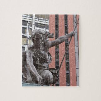Portlandia statue, Portland, Oregon Jigsaw Puzzle