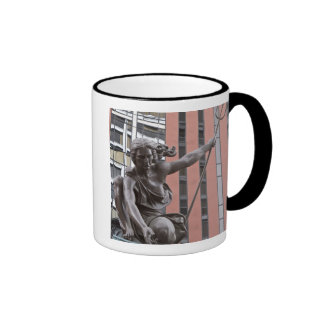 Portlandia statue, Portland, Oregon Ringer Mug