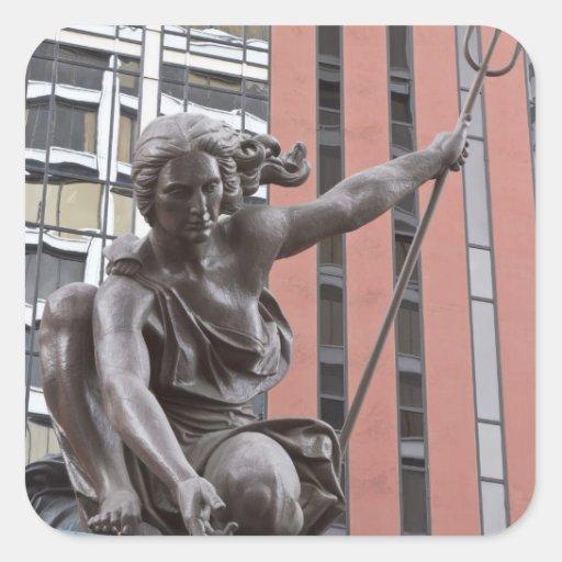 Portlandia statue, Portland, Oregon Square Sticker