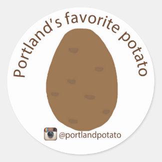 Portland's favorite potato sticker