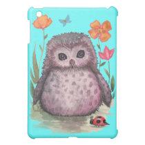 Portly Purple Owl iPad Case