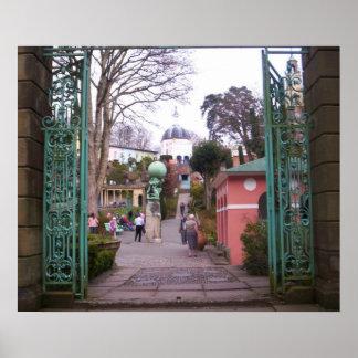 Portmeirion Through Lower Gate print