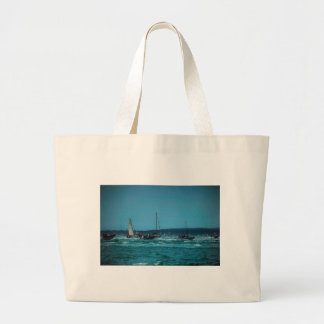 Portmouth Harbour Boat Race Large Tote Bag