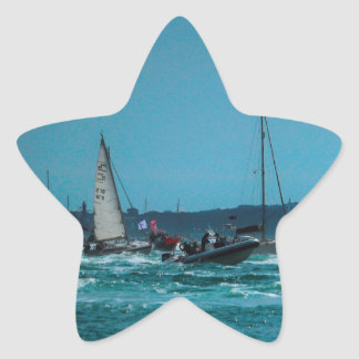 Portmouth Harbour Boat Race Star Sticker