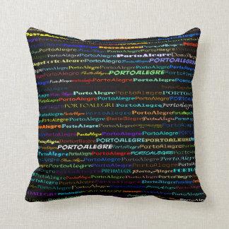 Porto Alegre Text Design I Throw Pillow