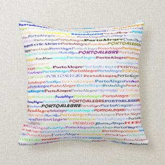 Porto Alegre Text Design II Throw Pillow
