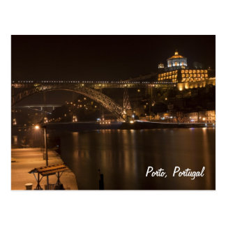 Porto by night Postcard
