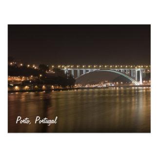 Porto by night Postcard