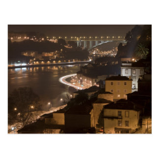 Porto City by Night Postcard