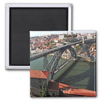 Porto city Iron Bridge, Portugal Magnet