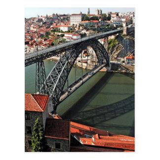 Porto city Iron Bridge, Portugal Postcard