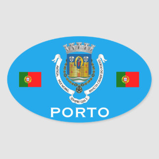 Porto Portugal Euro-style Oval Sticker