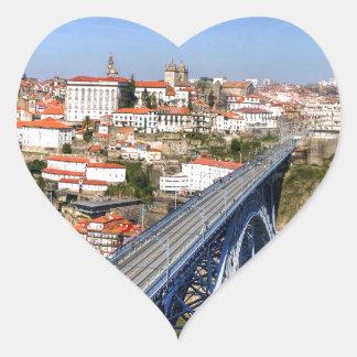 Porto, Portugal Heart Sticker