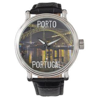 Porto - Portugal. Night Scene Near Douro River Watch