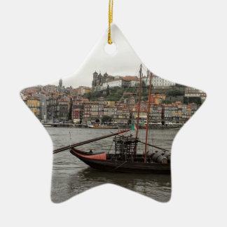 Porto waterfront, Portugal Ceramic Ornament