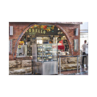 Portobello Caffe Wrapped Canvas