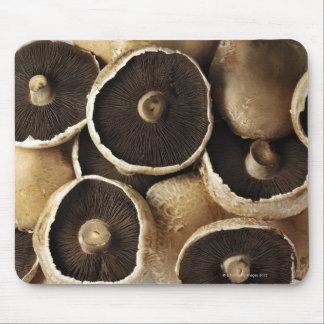 Portobello Mushrooms on White Background Mouse Pad