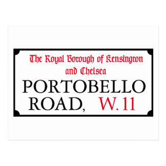 Portobello Road, London Street Sign Postcard
