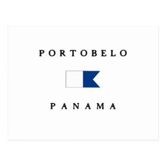 Portobelo Panama Alpha Dive Flag Postcard