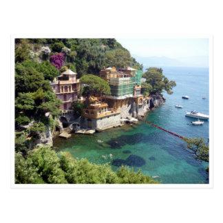 portofino clear waters postcard
