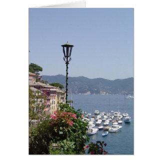 Portofino, espacio en blanco de Italia toda la tar Felicitaciones