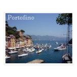 portofino harbour italy postcard