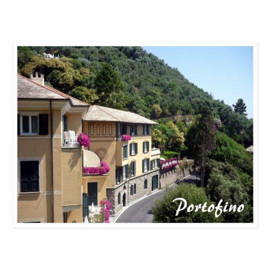 portofino houses postcard