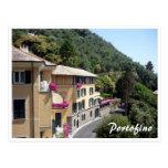 portofino houses postcards