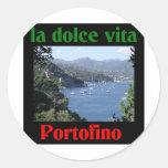 Portofino Italia Pegatina Redonda