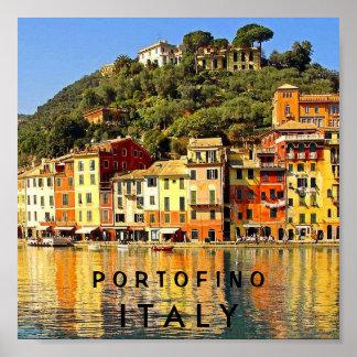 PORTOFINO ITALIA PÓSTER
