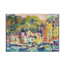 portofino, italy, travel, boats, villages, seaside, colorful, europe, watercolors of italy, ginette, riviera, [[missing key: type_powis_cas]] com design gráfico personalizado