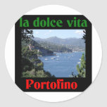 Portofino Italy Round Stickers