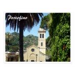 portofino martino church postcard